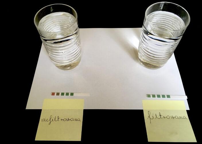 filtrowanie wody rezultaty
